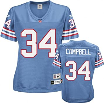 competitive price be779 13452 Amazon.com : Earl Campbell Houston Oilers Light Blue NFL ...
