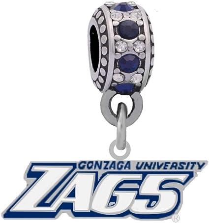 Final Touch Gifts Gonzaga University Logo Charm Fits European Style Large Hole Bead Bracelets