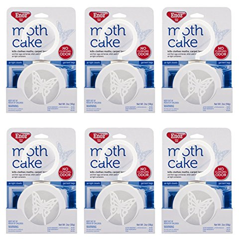 2-Pack of 3 Pieces, Enoz Moth Cake/Hangers (2) 3-Packs, Total 6 Moth - Hanging Cake