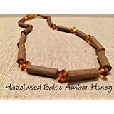 Hazelwood Baltic Amber Necklace 11 Inches Brown Honey Yellow for babies baby infant toddler bub for Gut issues; Eczema, Colic, Reflux, GERD, heartburn, and ulcers. 100% Satisfaction Guaranteed. 28 cm 11 inches Hazel wood by Baltic Amber