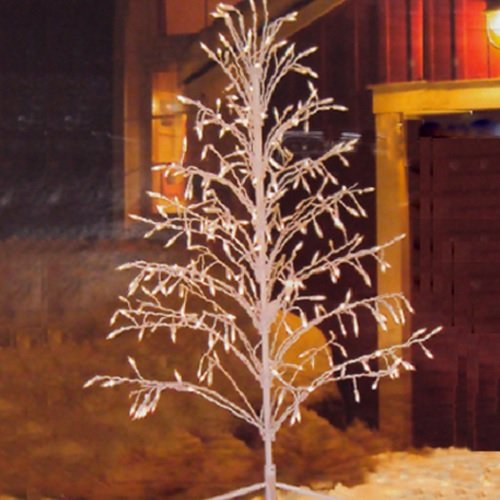 Outdoor Lighted Wire Trees - 8