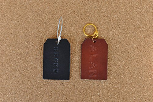 Leather luggage tag, backpack name tag, personalized gift, wedding favors, ID label, stocking stuffer, monogram, eco friendly gift 1721