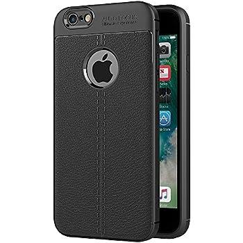 70a5a539fd0 ZOFEEL Funda para iPhone 6 iPhone 6s La Cáscara Protectora Compacta Piel de  Litchi Carbono Anti-choques Silicona Muy Suave TPU Case Negro