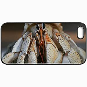 Personalized Protective Hardshell Back Hardcover For iPhone 5/5S, Crab Design In Black Case Color