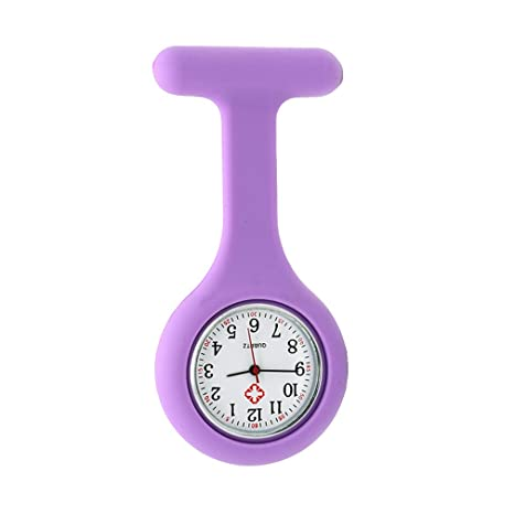 Fangcheng Relojes Enfermeras Broche Reloj Colgante Bolsillo Trabajo Reloj Impresión Silicona Color Puro Médico Personal Atención