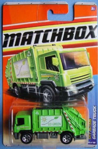- Matchbox 2011 City Action Go Green Garbage Truck Trash Recycle