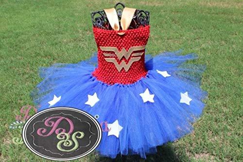 Wonder Woman Tutu Dress - Super Hero Tutu Dress ()