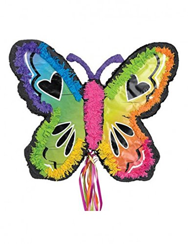 Ya Otta Pinata Neon Butterfly Mexican Style Birthday or Pool Party Supplies | Full Sized for Chocolate, Candy Filling | Celebrations, Parties, Cinco de Mayo, -