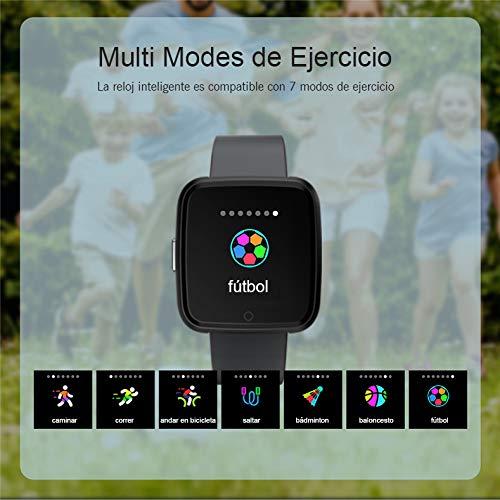 SoloKing Pulsera Inteligente con Multi Modes de Ejercicio,Mide los Pasos,Calorías,Pulsómetros,Monitor de Sueño, Impermeable IP67 Pulsera Reloj ...
