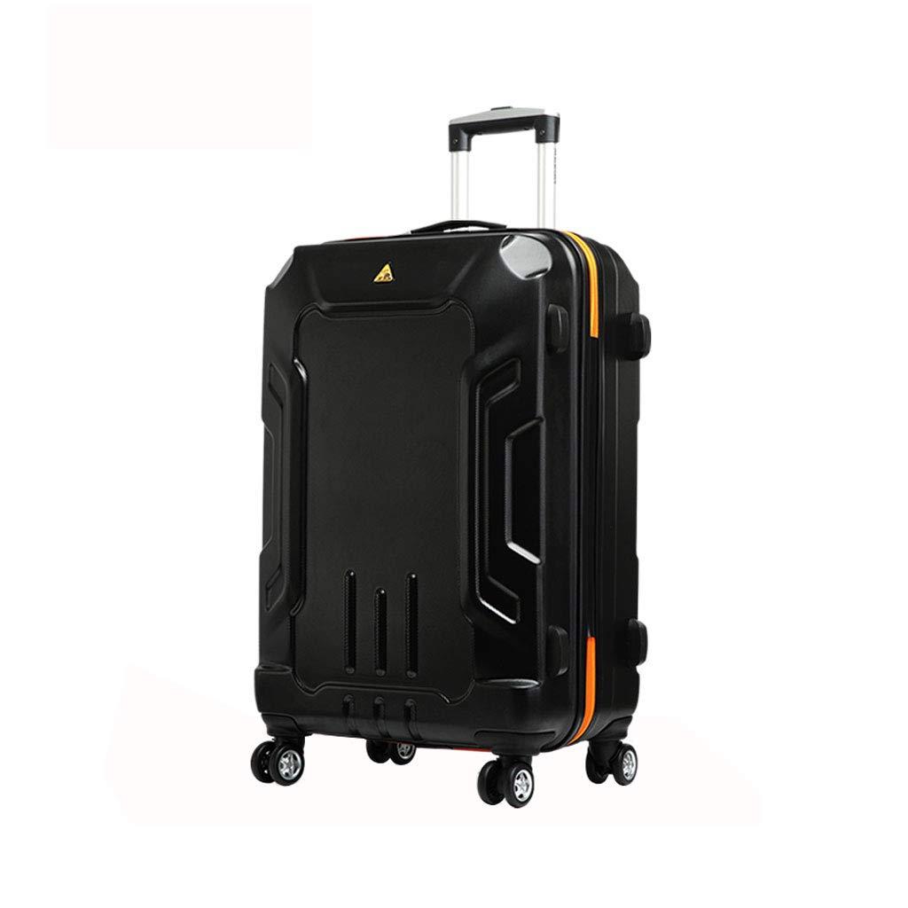 スーツケース超軽量ABSハードシェル旅行は4つのホイール、航空&詳細情報のために承認されたハードシェルトロリーサイズのアドオンキャビンハンド荷物スーツケースキャリー B07P7LB37T  52cm*34cm*75cm