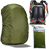 Gryps Waterproof Backpack Rain Cover with Adjustable Anti Slip Buckle Strap & Sliver Coating Reinforced Inner Layer for Camping, Hiking, Traveling, Hunting, Biking and More, 30-40L(Green)
