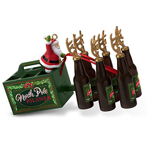 Beer Christmas Ornament - Hallmark Keepsake Christmas Ornament 2018 Year Dated, Santa's Reinbeer Beer