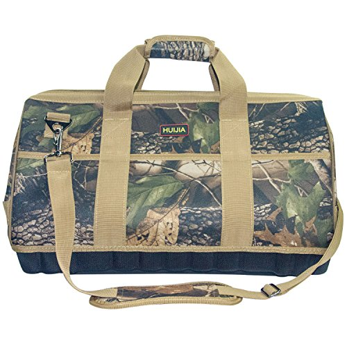 HUIJIA Tool Bags Super Heavy Duty Tool Storage Camo Bag (L:16.2''X11.8''X8.7'') by HUIJIA