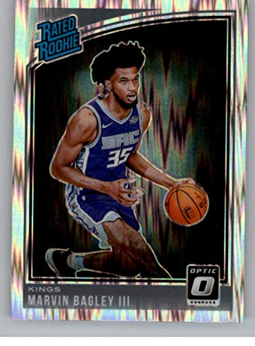 2018-19 Donruss Optic Shock Basketball #168 Marvin Bagley III Sacramento Kings Rated Rookie Official NBA Trading Card Produced By Panini ()