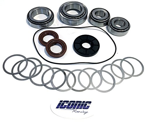 Iconic Racing Rear Differential Gear Case Complete Bearing and Seal Kit With O-ring & Shims Compatible With 08-14 Polaris RZR 800 / S 800/4 800 ()
