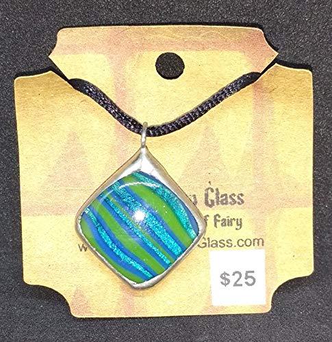 Square Fused Glass Pendant - Fused Pendant Square Glass