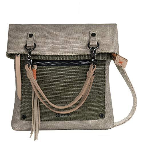 (Sherpani Women's Rebel Handbag/Crossbody Cross Body Bag Natural/Moss One Size)