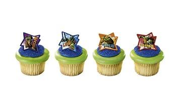 Amazon.com: TEENAGE Mutant NINJA TURTLES (24) Cake CUPCAKE ...