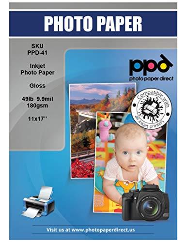 PPD Inkjet Glossy Photo Paper 11x17