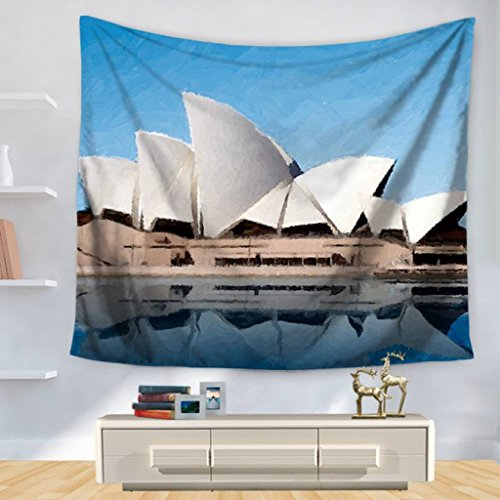 YQ Park Tapestry Wall Decoration Sydney Opera House Series Mural Tapestry Bedroom Living Room Or Apartment Wall Hanging Carpet