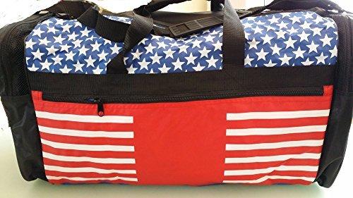 Taekwondo Sparring Gear Martial Arts Gear Equipment Bag Tae Kwon Do Karate MMA American Flag Big Bag 13''x27''x14''