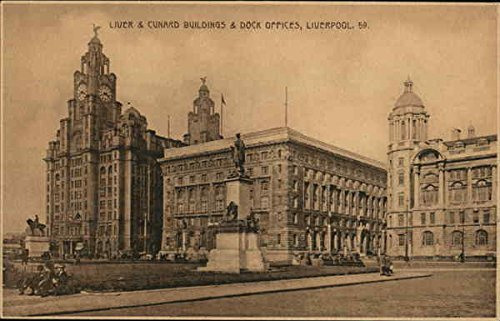 - Liver & Cunard Buildings & Dock Offices Liverpool, England Original Vintage Postcard