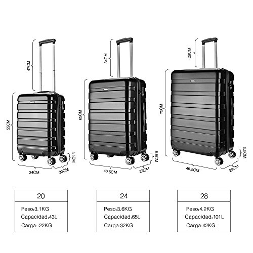 promo code 50% off largest selection of Cabin Luggage Super Lightweight ABS Hard Shell Travel Carry On Trolley 4  Wheels Suitcase