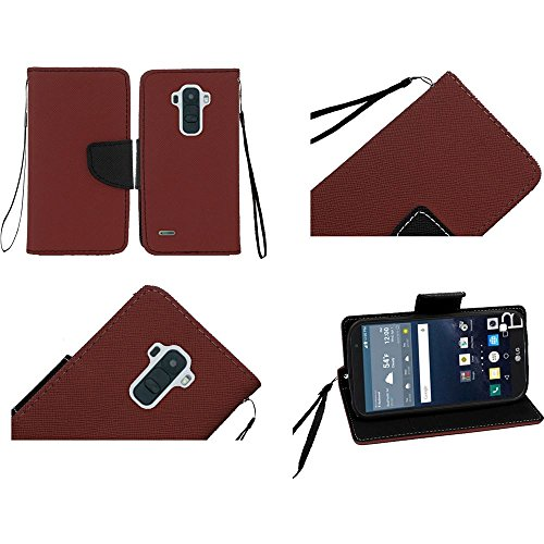HR Wireless Cell Phone Case for LG G Stylo LS770 H631 G4 Stylus Wallet Covers - Brown -  BWC3-LGLS770-Brn