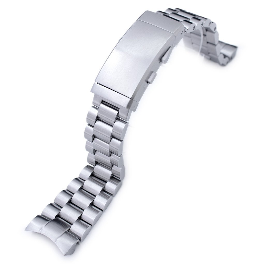 22mm Endmill 316L SS Watch Bracelet for Orient Mako II & Ray II, Ratchet Buckle Brushed by Orient Replacement by MiLTAT