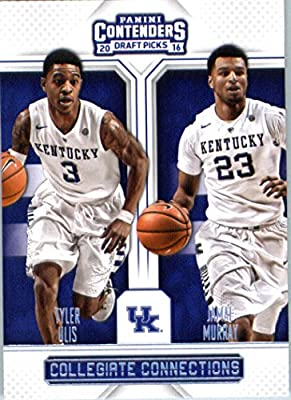 2016-17 Panini Contenders Draft Picks Collegiate Connection #11 Jamal Murray/Tyler Ulis Kentucky Wildcats Basketball Card in Protective Screwdown Display Case