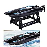 New Shuang Ma 3 Channels High Speed RC 2.4G 3CH RTF Water Cooling RC Simulation Racing Boat OutdoorNacome (Blue)