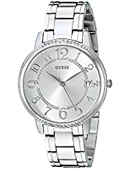 GUESS Womens Quartz Stainless Steel Casual Watch, Color:Silver-Toned (Model: U0929L1)