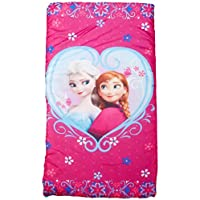 Disney Frozen Anna and Elsa Slumberbag, 30 X 54, Pink