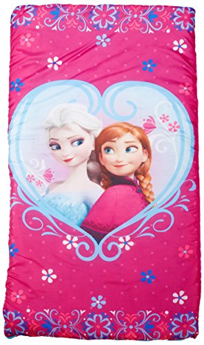 Disney Frozen Anna and Elsa Slumberbag, 30 X 54, Pink by Jay Franco (Image #1)