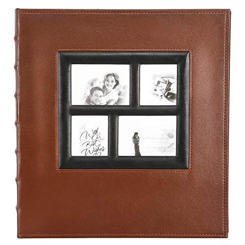 - Photo Picutre Album 4x6 500 Photos, Extra Large Capacity Leather Cover Wedding Family Photo Albums Holds 500 Horizontal and Vertical 4x6 Photos with Black Pages (Brown)