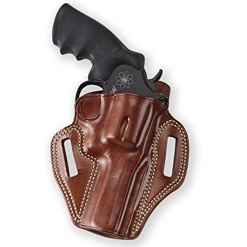 Combat Master Belt Holster Galco CM104, Brown - Smith & Wesson L-Frame 686 4