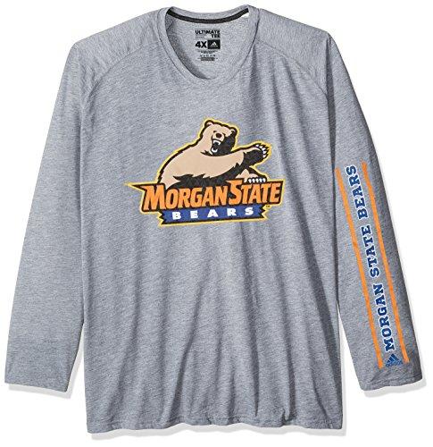 Adidas Morgan State Bears - adidas NCAA Morgan State Bears Adult Men sleeve Play Ultimate L/S Tee, X-Large, Medium Grey Heather