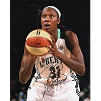 fan products of TINA CHARLES signed (NEW YORK LIBERTY) WNBA Basketball 8X10 photo W/COA #3 - Autographed NBA Photos