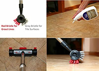 The Tile Diamond ~ Tile & Grout Brush - Scrubber Cleaning Tool, Restore Ceramic Floors, Shower, Bathroom, Kitchen, All-Purpose Cleaning, Remove Stains Dirt & Debris