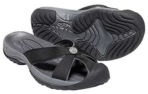 KEEN Women's Bali-W Sandal, Black/Magnet, 8 M US (Bali Slide Sandal)