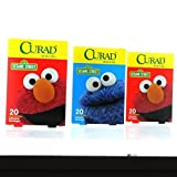 Curad Sesame Street Adhesive Bandages Assorted Sizes 60 ct (3boxes)