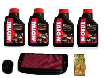 Kit Tagliando Yamaha FZ6 600 Aceite Motul 7100 10 W40 Filtro Aceite Aire velas: Amazon.es: Coche y moto
