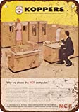 """9"""" x 12"""" METAL SIGN - 1962 NCR Mainframe Computers - Vintage Look Reproduction"""