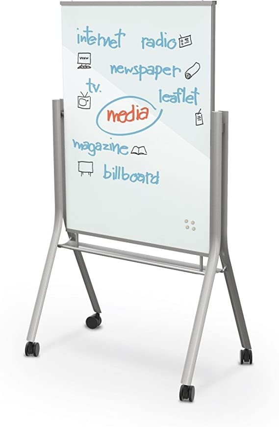 Amazon Com Best Rite Visionary Curve Mobile Magnetic Glass Whiteboard Easel 74955 Office Products
