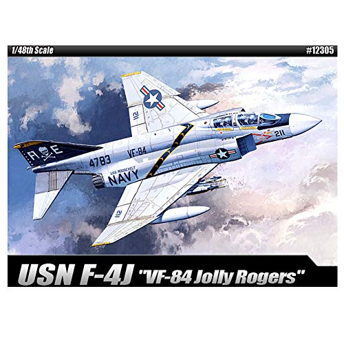 Academy VF-84 Jolly Rogers USN F-4J Plastic Model Kits 1/48 -