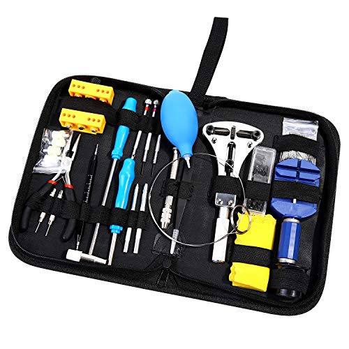 Plastic Band Link (Ohuhu 176 PCS Watch Repair Tool Kit, Professional Watch Case Opener Spring Bar Tool Set, Watch Band Link Pin Tools with Carrying Case)