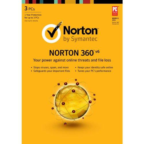 Norton 360 6 0   1 User   3 Pc  Old Version
