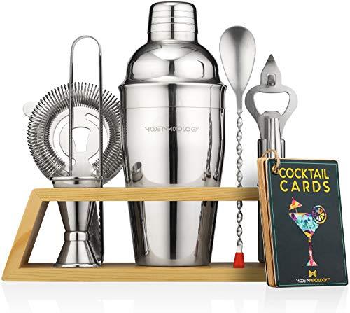 Mixology Bartender Kit with Stand   Bar Set Cocktail Shaker Set for Drink Mixing – Bar Tools: Martini Shaker, Jigger…