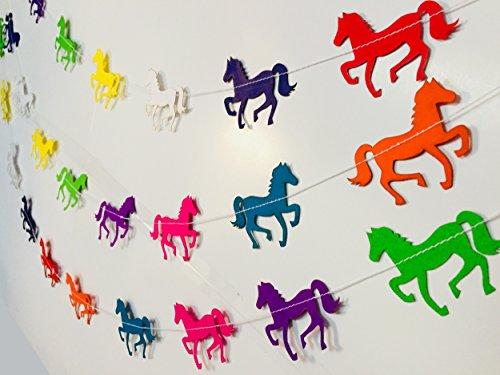 Rainbow Horse Paper Garland Party Decorations - birthday decorations for girls,birthday decoration items,birthday decorations materials,marriage decoration materials,Paper Garland royal decoration,bir