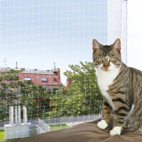 FamilyZoo Katzennetz | Polyethylen | Schutznetz | 2 × 1, 5 m schwarz | Volierennetz